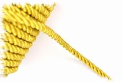 Sier- of Meubelkoord, synthetisch, Ø8mm, goud, per meter