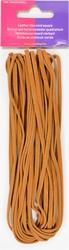 Veterkoord, imitatieleer, breedte 3mm lengte 5mtr, bruin