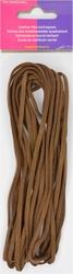 Veterkoord, imitatieleer breedte 3mm lengte 5mtr, bruin