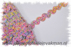 Elastisch zigzagband, ca 15mm breed, lavendel gemêleerd