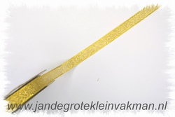 Lint, goudkleurig, 10mm breed, prijs per meter