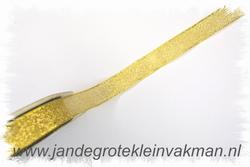 Lint, goudkleurig, 13mm breed, prijs per meter