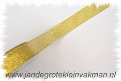 Lint, goudkleurig, 19mm breed, prijs per meter