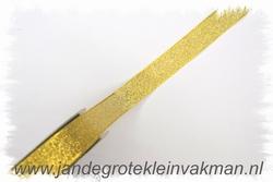 Lint, goudkleurig, 25mm breed, prijs per meter