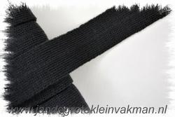 Tresband, viscose menging,  per meter, zwart