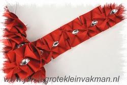 Sier- of afwerkband, 40mm breed, per meter, rood