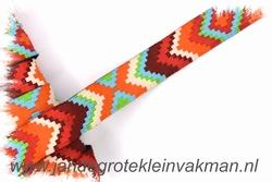 Afwerkband, Ibiza stijl, 14mm breed, per meter