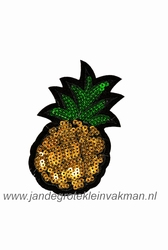 Applicatie met pailleten, opnaai- opstrijkbaar, ananas L