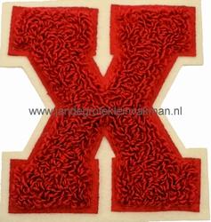 Baseball applicatie, letter X, rood