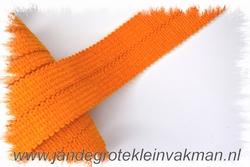 Tresband, 75% acril / 25% polyester, per meter, oranje