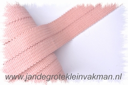 Tresband, 75% acril / 25% polyester, per meter, zalmroze