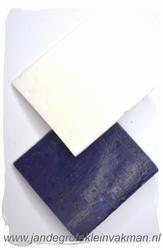 Kleermakerskrijt, wax, twee blokjes, wit en blauw