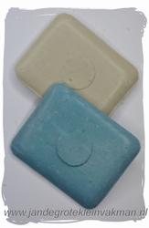 Kleermakerskrijt, twee blokjes, wit en blauw