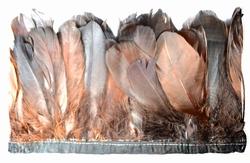 Verenband, ca. 130mm hoog, 60gram per meter, bruin