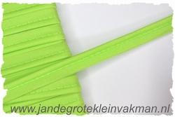 Pipingband, elastisch, 5mm breed, fluorgroen, per meter