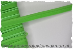 Pipingband, elastisch, 5mm breed, groen, per meter