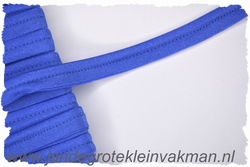 Pipingband, elastisch, 5mm breed, kobaltblauw, per meter