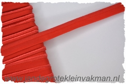 Pipingband, elastisch, 5mm breed, rood, per meter