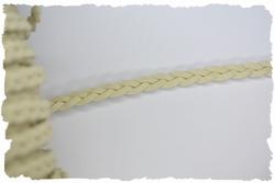 Gevlochten veterkoord, 5mm breed, ecru, pere meter