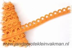 Elastisch lusjesband, 15mm breed, lusje 10mm, abrikoos