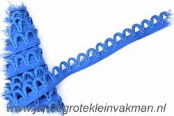 Elastisch lusjesband, 15mm breed, lusje 10mm, kobaltblauw