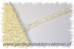 NIET elastisch lusjesband, 15mm breed, lusje 15mm, ecru