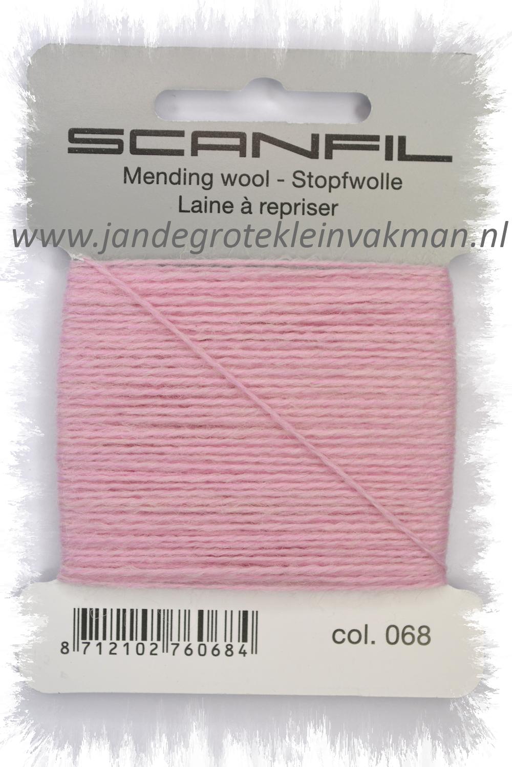 Stopwol, per kaartje van 15 meter, roze