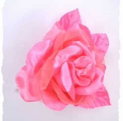 Bloem corsage op steel, roze