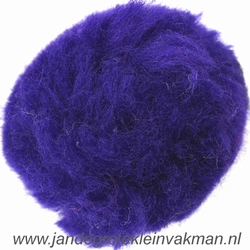 Pompon, synthetisch, ø ca. 50mm, donkerblauw