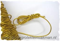 Elastish koord, 3mm dik, goud, prijs per meter