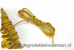 Elastish koord, 1,5mm dik, goud, prijs per meter