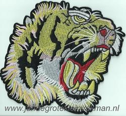 Opnaaibare en opstrijkbare applicatie, tijger, ca. 170x175mm