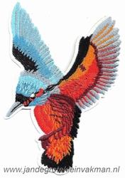 Opnaaibare en opstrijkbare applicatie, kolibri, ca 150x110mm