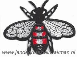 Opnaaibare en opstrijkbare applicatie, insect, ca75x60mm