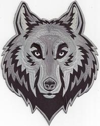 Opstrijkbare applicatie, wolf, 235x180mm
