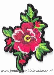 Opnaaibare bloemen applicatie, ca.70x55mm