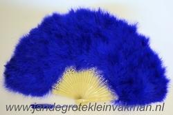 Veren waaier, prachitge kwaliteit, kobaltblauw