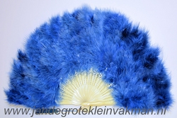 Veren waaier, prachitge kwaliteit, jeansblauw
