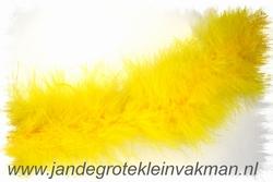 Maraboe band, ca. 80mm dik, geel, per meter