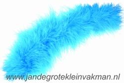 Maraboe band, ca. 80mm dik, turquoise, per meter