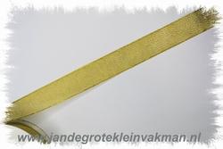 Lurex lint, 25mm breed, prijs per meter, goudkleur
