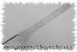 Lurex lint, 19mm breed, prijsper meter, zilverkleur