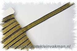 Lurex elastiek 15 mm zwart met goud