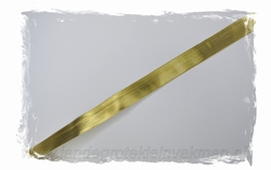 Metallic lint, 18mm breed, prijs per meter, goudkleur