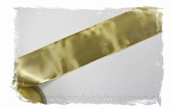 Metallic lint, 50mm breed, prijs per meter, goudkleur