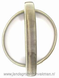 Mouwophouder, zilverkleur, twee stuks