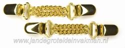 Mouwophouder, goudkleurig, twee stuks, 120mm lang