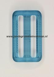 Gesp, kunststof, transparant lichtblauw, 25mm