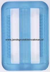 Gesp, kunststof, transparant lichtblauw, 40mm