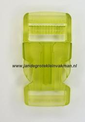 Insteekgesp, kunststof, 25mm, transparant groen